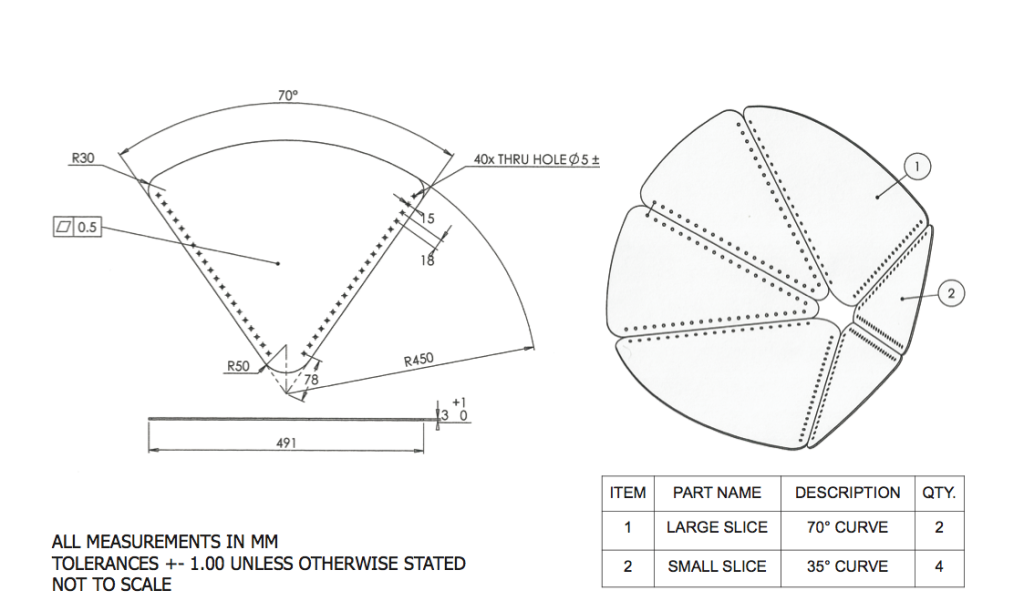 Nest Rest Technical Drawing