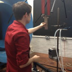 Edd setting up the wind tunnel to test our models
