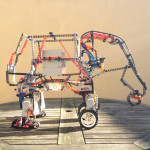 First model made with Lego Technic and Lego Mindstorms